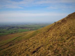 The steep sloped of Dufton Pike