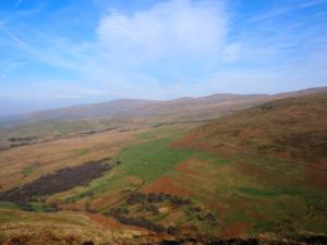 Looking towards Cross Fell and the two Dun Fells