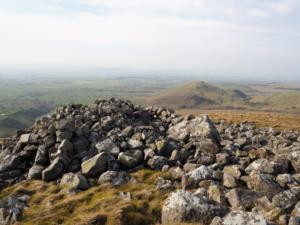 The 'Pile of Stones' to the north-west of Brownber Hill's summit