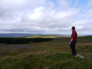 On the top of Flinty Fell looking towards Alston Moor