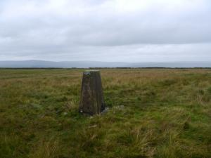 The Middle Fell trig point on Alston Moor
