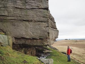 Exploring the crags on Goldsborough