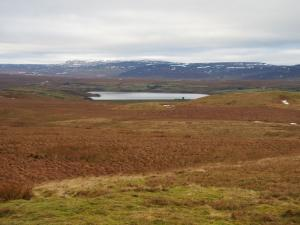Balderhead Reservoir and Mickle Fell from West Hare Crag