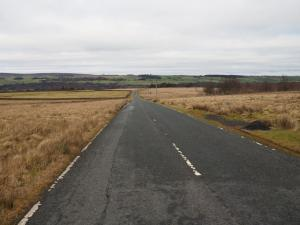 The road descending off the moor to Cotherstone