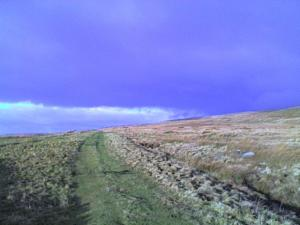 Following the Roman Road towards Maiden Castle