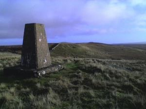 Another photo of the trig point on Great Knipe