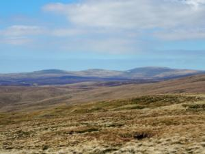 A closer view of Cross Fell