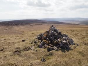 The cairn on Coldberry End