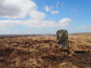 A boundary stone on Three Pikes