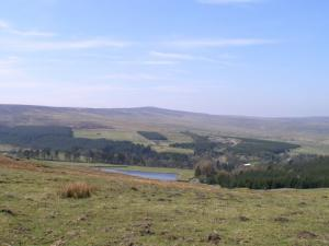 Killhope Law and East End Reservoir
