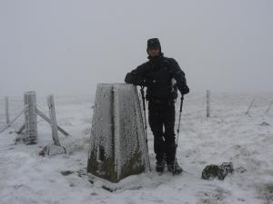 Matt on the summit of Black Fell