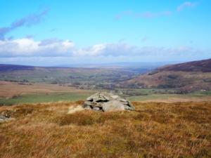 South Tynedale from the top of Little Heaplaw