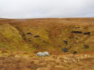 The large shake hole near the sheepfold