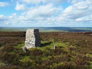 The Raven Seat trig point on Harnisha Hill