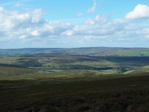 The moors above Weardale including Catterick and Collier Law