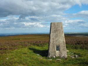 The trig point on Five Pikes