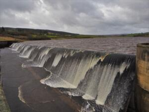 The waters of Grassholme reservoir looked very dramatic