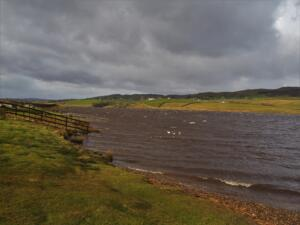 Stormy waters on Grassholme Reservoir