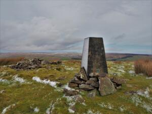 The trig point on Harter Fell