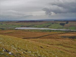 Grasssholme Reservoir from the slopes of Harter Fell