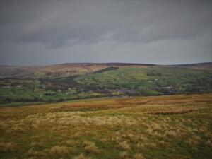 Looking down to Middleton-in-Teesdale