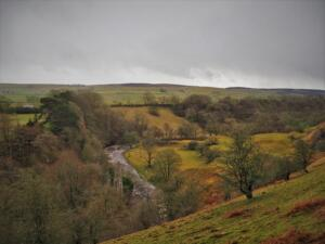 The super view of the River Lune from behind Laithkirk Parish Churcj