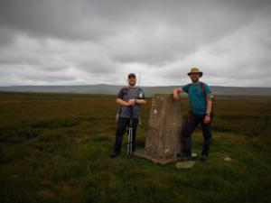 Me and Paul by the Harwood Side trig point