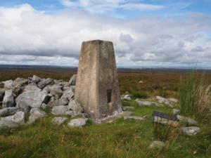 The Watson's Pike trig point on Lilswood Moor