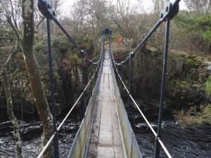 The Wynch Bridge over the River Tees