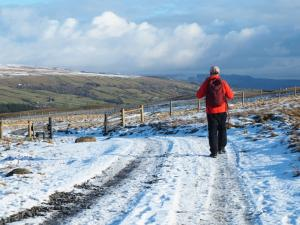 On the track descending back into Teesdale