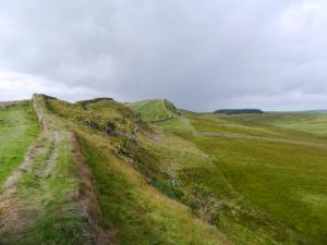 Looking west along Hadrian's Wall