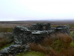 A ruined building on Slate Quarry Moss