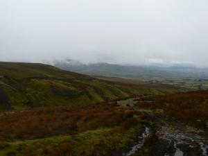 The bridleway leading off the moors towards North Stainmore