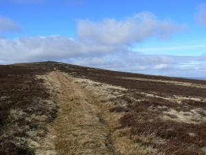 Approaching the top of Killhope Law