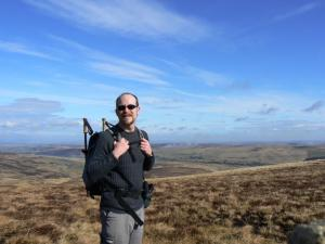 On Killhope Law with East Allen Dale behind me