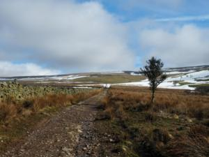 The Pennine Way as it heads for Knock Fell