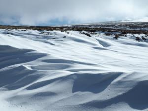 Snow drifts in Knock Hush