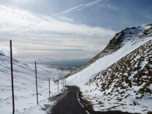 Looking down the highest road in England