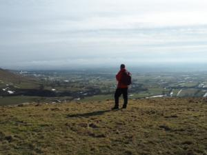 Enjoying the view from Knock Pike