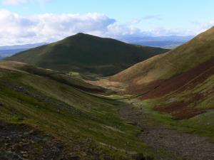 Looking down Great Rundale towards Dufton Pike