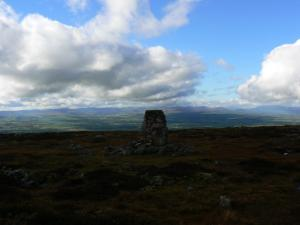 The Dufton trig point on Backstone Edge