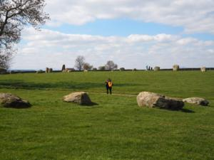 Lisa and Rhi in the middle of the stone circle