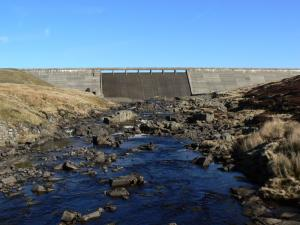 Cow Green Dam and the River Tees