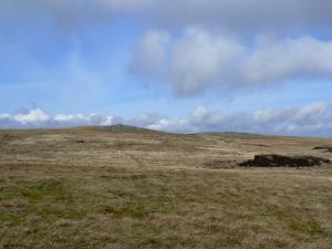 Approaching the top of Meldon Hill