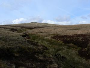 Looking back up at Meldon Hill