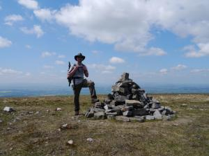 By the summit cairn on Melmerby Fell