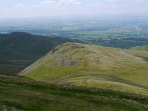 Looking down at Cuns Fell