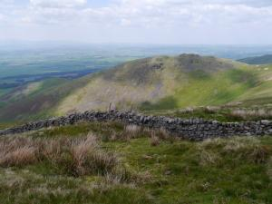 Looking back down at Cuns Fell
