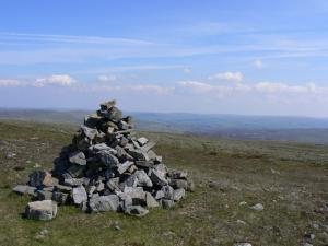 The cairn on the top of Melmerby Fell