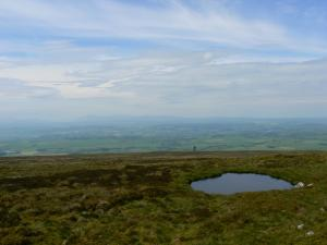The hazy view west from Fiend's Fell